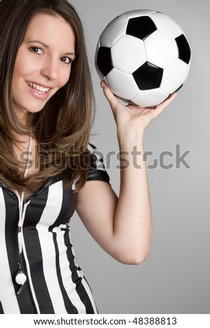 Soccer Referee - stock photo