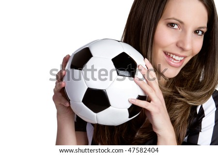 Soccer Referee Woman - stock photo