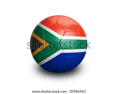 soccer south africa - stock photo
