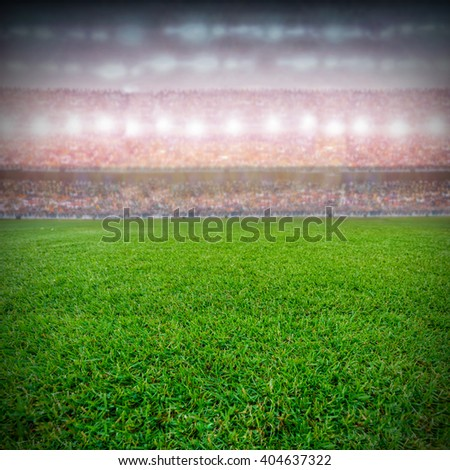soccer stadium and the supporters background - stock photo