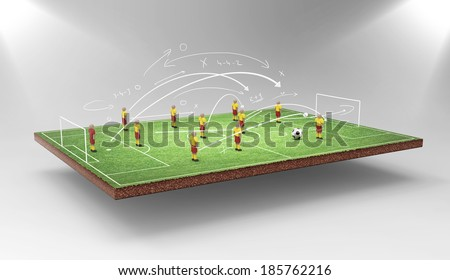 Soccer tactics - stock photo
