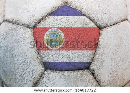 socer flag costa rica - stock photo
