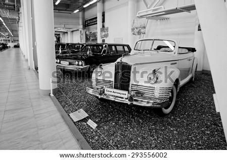 SOCHI, RUSSIA - JUNE 11, 2015: ZIS-110B in the Sochi Auto Museum on June 11th 2015. - stock photo