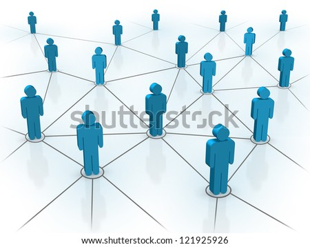 Social and Business Network concept. Created digitally.