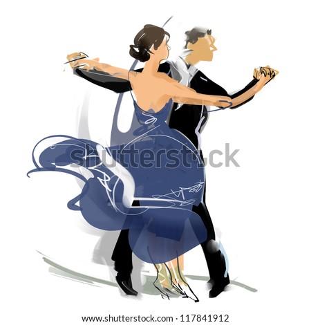 Social dance - stock photo