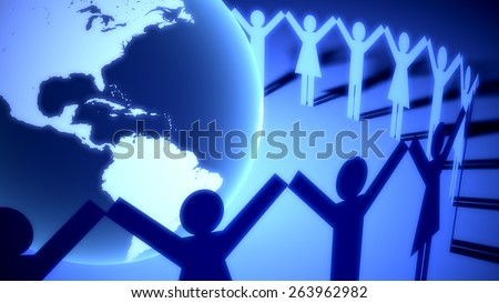 Social Gathering. 3D. Celebrate the World (Americas) XXL - stock photo