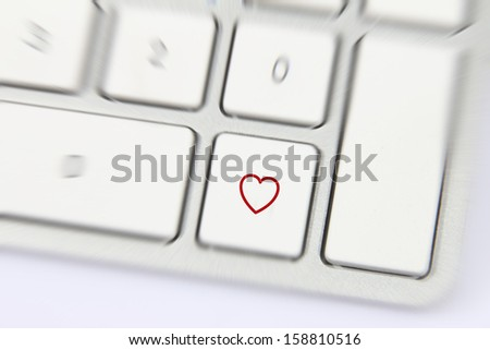 Social Media button on a keyboard showing the live shape icon
