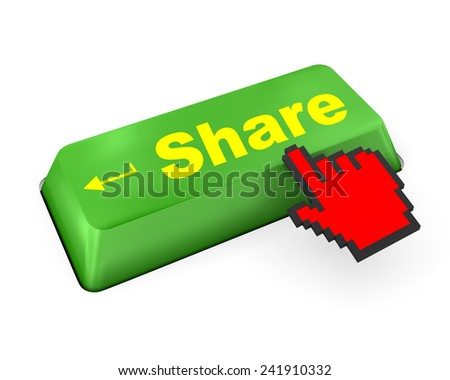 social media Button on Keyboard like,social media - stock photo