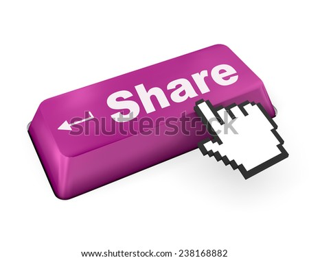 social media Button on Keyboard ,social media - stock photo