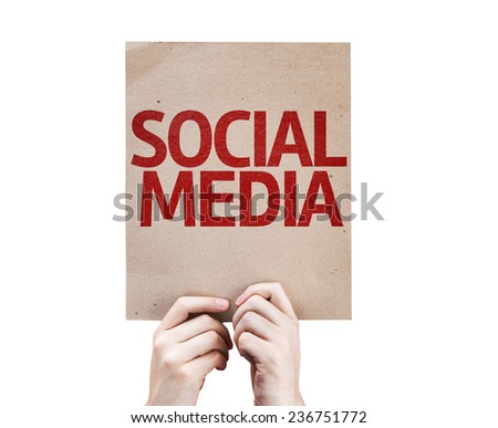 Social Media card isolated on white background - stock photo
