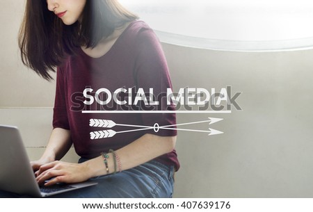 Social Media Communication Networking Online Concept