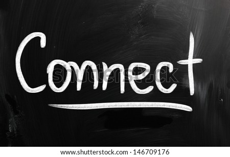 social media concept - text on a blackboard. - stock photo