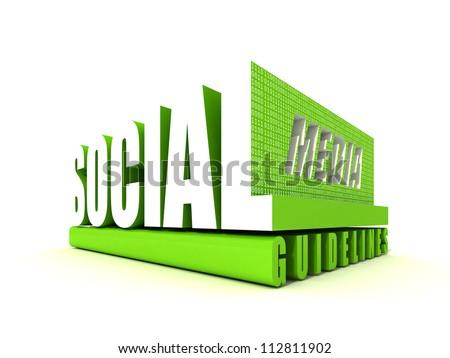 Social Media Guidelines - stock photo
