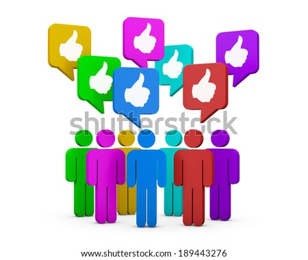 social media icon like social media - stock photo
