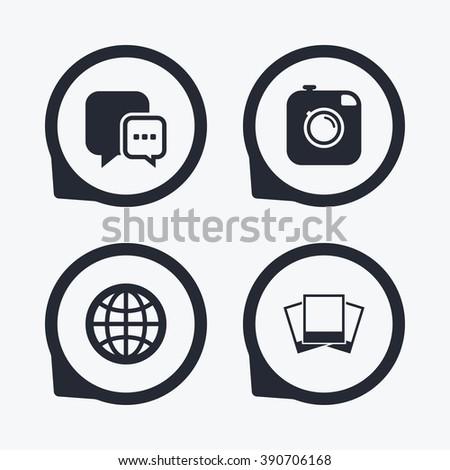 Social Media Icons Chat Speech Bubble Stock Illustration 390706168