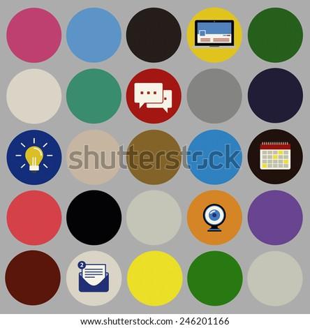 Social Media Icons Signs Symbols Illustration Concept - stock photo