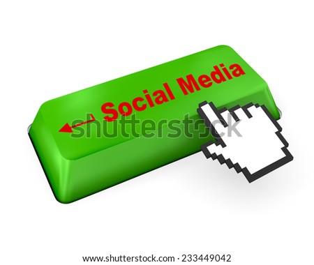 Social media keyboard ,social media - stock photo