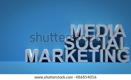 Social Media Marketing over Blue Background