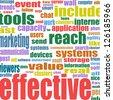 Social media marketing word cloud, raster - stock photo