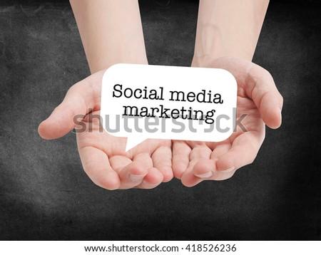 Social media marketing written on a speechbubble - stock photo