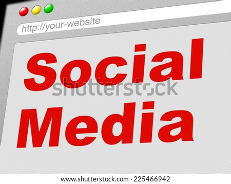 Social Media Meaning Network Marketing And Together - stock photo