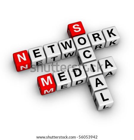 Social Media Network (from crossword series) - stock photo