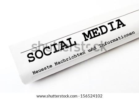 Social Media newspaper - stock photo
