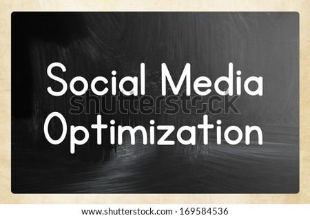 social media optimization - stock photo
