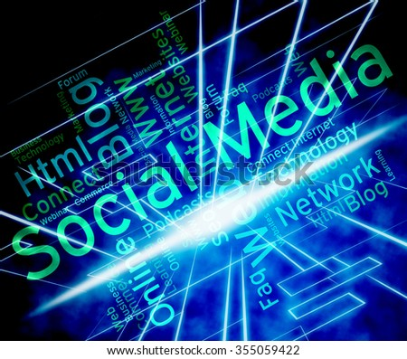 Social Media Showing News Feed And Posts  - stock photo