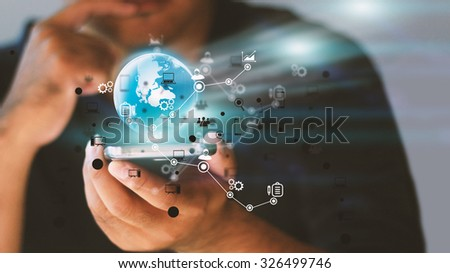 Social media,social network concept. - stock photo