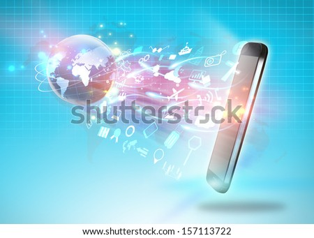 Social media,social network concept,communication - stock photo