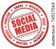 Social media symbol - stock photo