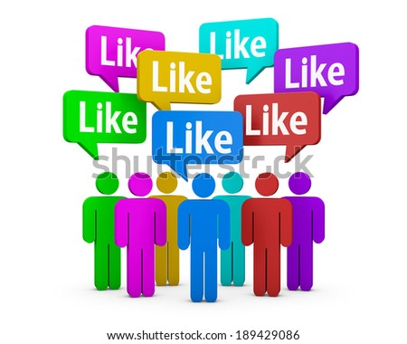 social media symbol like social media - stock photo