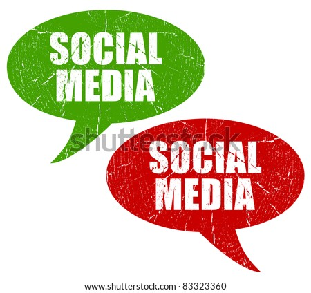 Social media symbols - stock photo