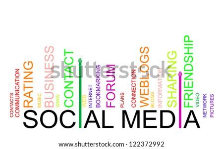 SOCIAL MEDIA text bar-code - stock photo