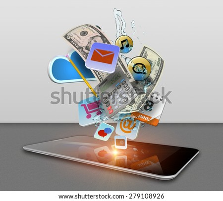 Social media web, communication and sharing. - stock photo