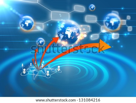 Social network concept - stock photo