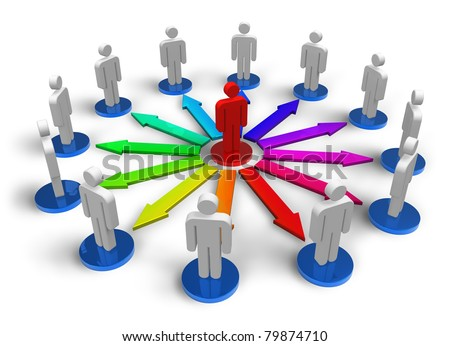 Social network concept isolated on white background - stock photo