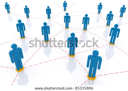 Social  Network. 3d image - stock photo