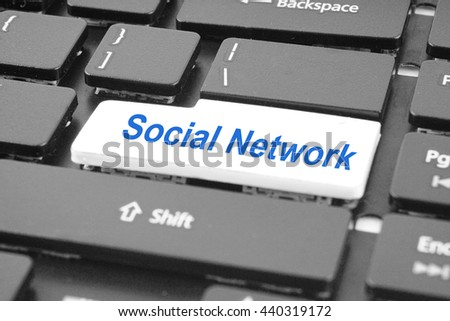 Social network keyboard key button. Keyboard keys icon button.