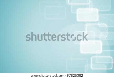social network light blue background. - stock photo