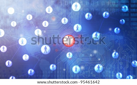social network pattern - stock photo
