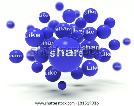 Social network signs. 3d render illustration. - stock photo
