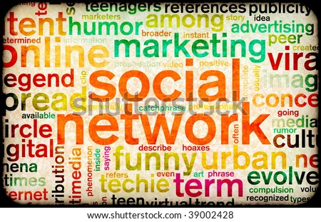 Social Network Site Online Concept For Internet - stock photo