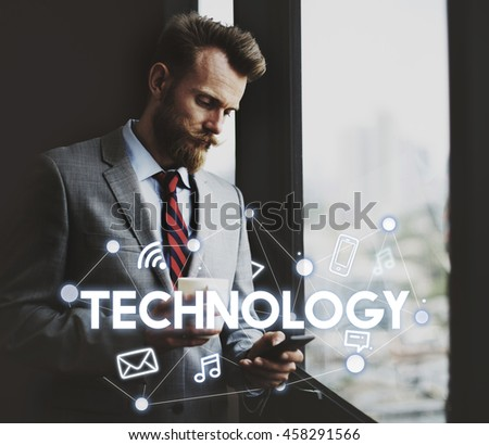 Social Networking Global Communications Technology Connection Concept - stock photo