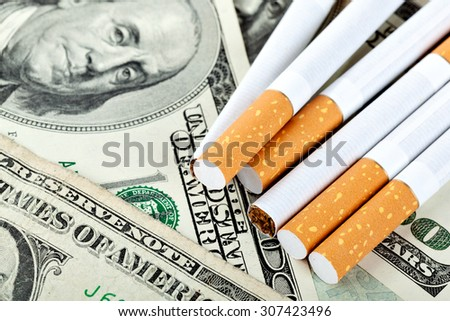 social problems of smoking, the concept of concentration on the dangers to health - stock photo