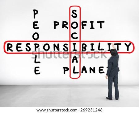Social Responsibility Reliability Dependability Ethics Concept - stock photo