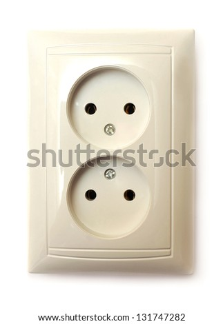 Socket isolated on a white background - stock photo