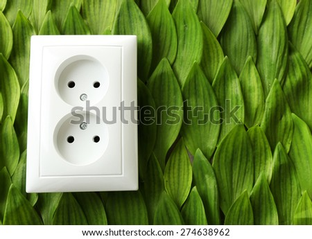Socket isolated on white - stock photo