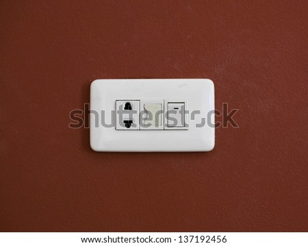 Socket Outlet - stock photo
